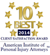 American Institute of Personal Injury Attorneys 10 Best Seal
